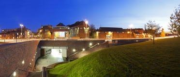 Carlisle at Night. Nightime long exposure shot at Carlisle Castle royalty free stock photos