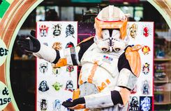 Stormtrooper from Star Wars cosplay Stock Photography
