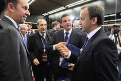 Carlo Ð ¡ alenda minister rozwój gospodarczy Włochy przy St Petersburg międzynarodowym ekonomicznym forum Obraz Royalty Free