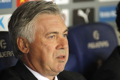 Carlo Ancelotti de Real Madrid Photographie stock
