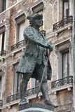 Carlo Goldoni bronze statue, Venice, Italy Stock Images