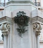 Carlo Goldoni statue, detail, Italy, Europe Stock Photography
