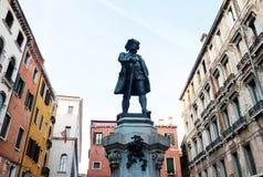 Carlo Goldoni statue in Venice Stock Images