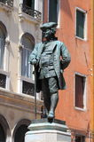 Carlo Goldoni statue in Venice Stock Photos