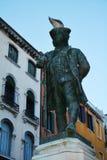 Carlo Goldoni statue, Venice, Italy Stock Images