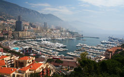 Carlo-Hafen in Monaco Stockfotos