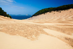 Carlo Sand Blow at Rainbow Beach Royalty Free Stock Photo