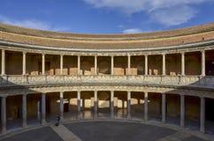 Carlo V pałac Alhambra, Hiszpania zdjęcia stock