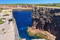 Carloforte - Mezzaluna cliff Stock Photo