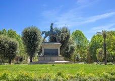 Carlos Alberto Equestrian Statue em jardins de Quirinal em Roma imagem de stock