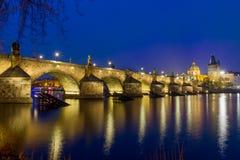 Carlos-brug in Praag - Tsjechische Republiek stock foto's