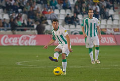 Carlos Caballero from match league Cordoba-Girona Royalty Free Stock Image