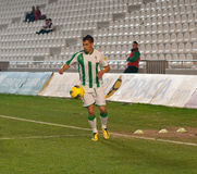 Carlos Caballero from match league Cordoba-Girona Royalty Free Stock Images