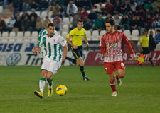Carlos Caballero from match league Cordoba-Girona Stock Image