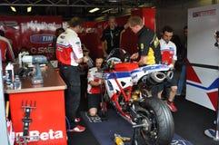 Carlos Checa - Althea di Ducati che corre squadra (SBK) immagine stock