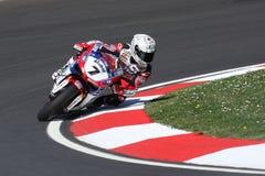 Carlos Checa - Ducati 1098R - Althea-Laufen Stockbilder
