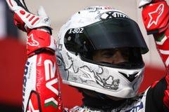 Carlos Checa - Ducati 1098R - Althea Racing. Carlos Checa rider Ducati 1098R Althea Racing team in the world Superbike Championship SBK Stock Image