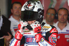 Carlos Checa - Ducati 1098R - Althea Racing Royalty Free Stock Images