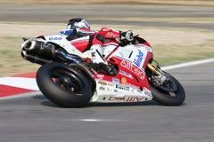 Carlos Checa - Ducati 1098R - corsa di Althea Fotografie Stock Libere da Diritti