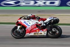 Carlos Checa - Ducati 1098R - corsa di Althea Immagini Stock Libere da Diritti