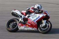 Carlos Checa - Ducati 1098R - het Rennen Althea Stock Foto's