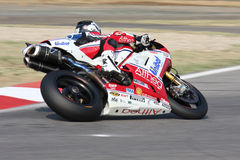 Carlos Checa - Ducati 1098R - het Rennen Althea Royalty-vrije Stock Foto's