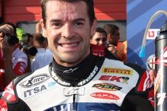 Carlos Checa - Ducati 1098R - het Rennen Althea Royalty-vrije Stock Fotografie