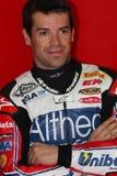 Carlos Checa - Ducati 1098R - het Rennen Althea Royalty-vrije Stock Afbeelding