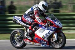 Carlos Checa - Ducati 1098R - het Rennen Althea Stock Foto