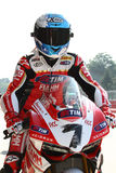 Carlos Checa #7 on Ducati 1199 Panigale R Team Ducati Alstare Superbike WSBK stock image