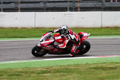 Carlos Checa #7 on Ducati 1199 Panigale R Team Ducati Alstare Superbike WSBK Stock Photography