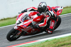 Carlos Checa #7 on Ducati 1199 Panigale R Team Ducati Alstare Superbike WSBK Royalty Free Stock Images