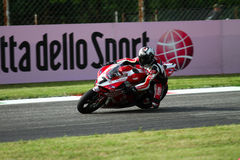 Carlos Checa #7 on Ducati 1199 Panigale R Team Ducati Alstare Superbike WSBK royalty free stock photography