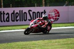 Carlos Checa #7 on Ducati 1199 Panigale R Team Ducati Alstare Superbike WSBK Royalty Free Stock Photography