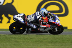 Carlos checa on the ducati, WSBK 2012 Royalty Free Stock Images