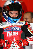 Carlos Checa #7 på Ducati Panigale 1199 R Team Ducati Alstare Superbike WSBK Arkivfoto