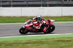Carlos Checa #7 su Ducati Panigale 1199 R Team Ducati Alstare Superbike WSBK fotografia stock