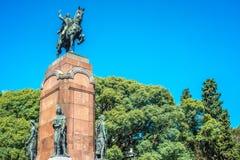 Carlos De Alvear statua w Buenos Aires, Argentyna fotografia stock