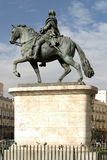 Carlos III. Statue of Carlos IIi in Puerta del Sol Royalty Free Stock Photos