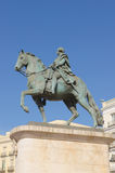 Carlos III statue Stock Images