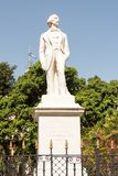 Carlos Manuel de Cespedes Statue in Cuba. Statue to Carlos Manuel de Cespedes, father of the Cuban nation in Old Havana and Cuban president of the nation in arms stock photo