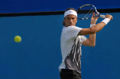 Carlos Moya in action Royalty Free Stock Photo