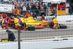 Carlos Munoz på gropen på Indy 2013 Royaltyfria Bilder