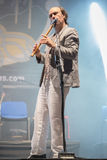 Carlos Nuñez, famous player of the gaita, Festival folk rock Stock Images
