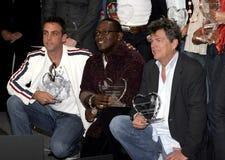 Carlos Ponce, Randy Jackson und David Foster Lizenzfreie Stockfotos