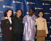 Carlos Rojas, Charm Tong, Zarema Mukusheva. Zarema Mukusheva Carlos Rojas Aloyslus Toe Charm Tong 2005 Reebok Human Rights Award Royce Hall, UCLA Westwood, CA Stock Photography