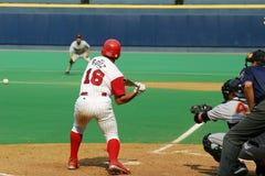 Carlos Ruiz of the Scranton Red Barons. Swings at a pitch Royalty Free Stock Photos