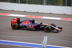 Carlos Sainz of Scuderia Toro Rosso. Formula One. Sochi Russia Royalty Free Stock Photo