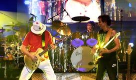 Carlos Santana Band durante il giro - giro 2016 di luminosità Fotografia Stock Libera da Diritti