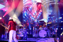 Carlos Santana Band na excursão - excursão 2016 da luminosidade Foto de Stock
